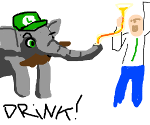 Luigi-lephant is the life of the party