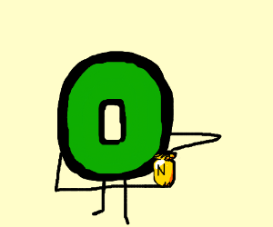 Letter O holds urn full of ashes from N