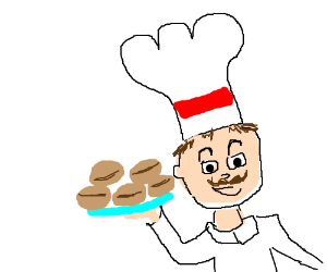 """Chef makes bread shaped like """"Soy Beans!"""""""