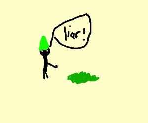 elf/gnome calls bush a liar