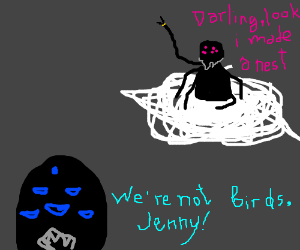 My spider wife sucks at spider things