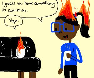 Flaming Egg, Flaming Hair