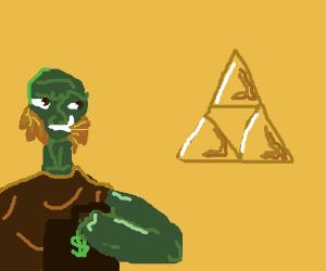 Ganondorf bribes for Triforce info.