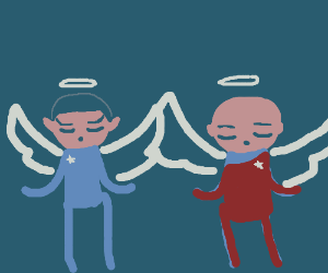 two startreck dudes are angels