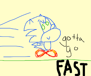 Sonic the Hedgehog Has to Go Fast