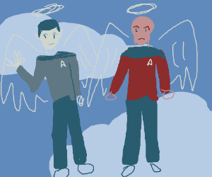 Spock and JLP as angels