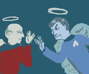 Spock and Picard in the heaven