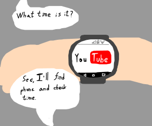 I use my watch for internet, my phone for time