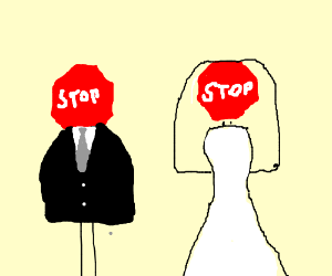 Stop Sign Marriage