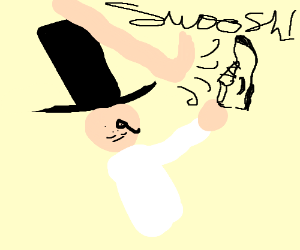 monopoly man steals nike swoosh