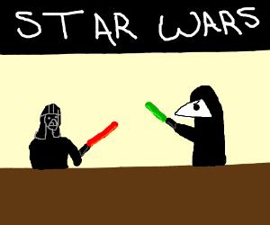 star wars puppet show