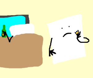Sheet of paper regrets her marriage