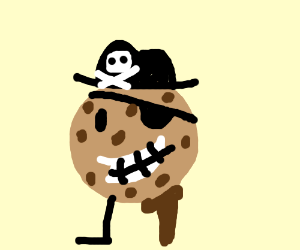 armless cookie pirate