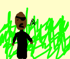 Nick fury screams from the long grass.
