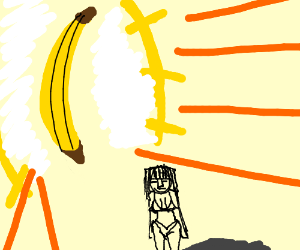 banana outshines lady