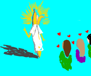 the holy banana attracts all the gals