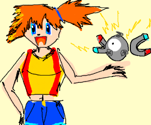Misty and Magnemite