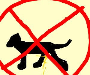 No dogs peeing allowed