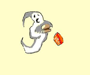 Ghost eating KFC