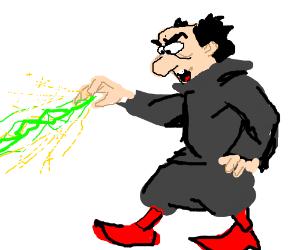 Gargamel casts a magic spell