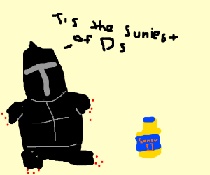 Solaire drinking Sunny D