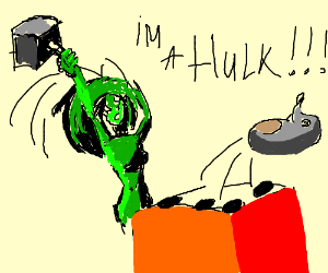 She-Hulk plays whack-a-mole intensively