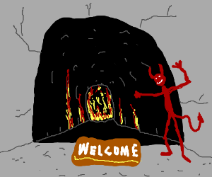 A friendly welcome in Hell!