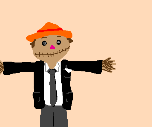 The Scarecrow in a suit.