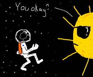Sun Is Concerned About Space Walking Astronaut