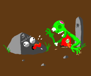 Crazy rock greets Mr. Zombie