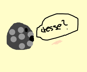 the moon wonders if it's made of cheese