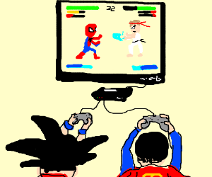 Goku And Superman Play Marvel Vs Capcom Drawception