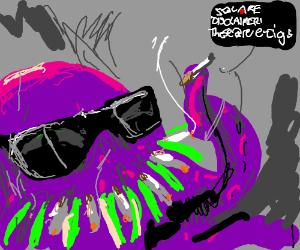 all the cool octopi smoke cogarettes!