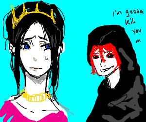 Black eyed gentleman wants to kill princess