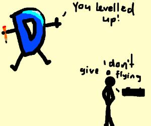 I don't care if I level up on Drawception.