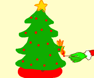 Yoda Does Yoga In A Pagoda - Christmas Trees On Fire