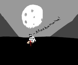 Cow Sacrifices Human Beneath Full Moon