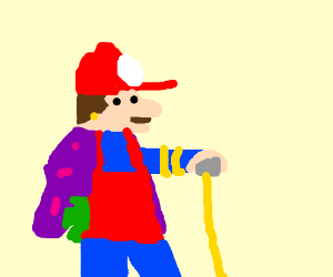 Mario is a plumber during day, a pimp at night