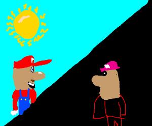 day/night Mario