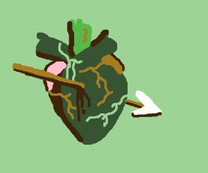 An arrow through the heart :'(