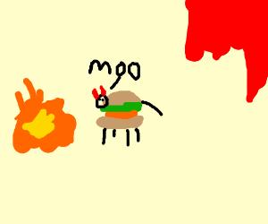 Demonburgercow