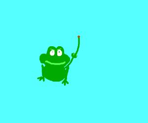 Frog with ET finger flips you off
