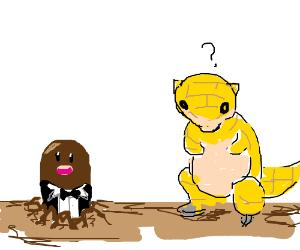 Gentleman Diglet confuses a wild Sandshrew