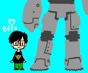 Lil' Gideon's giant robot