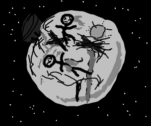 the man on the moon and his family are dead