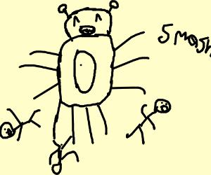 Evil bug monster gets his beat in Smash