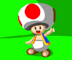 Toad from Mario.