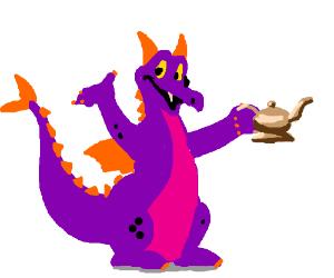 Spyro with the genie's lantern.