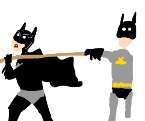 Batman vs Batman (Tug of war)