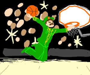 Stalin dunks basketball